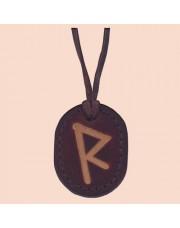 Kožna ogrlica runa amulet Raido